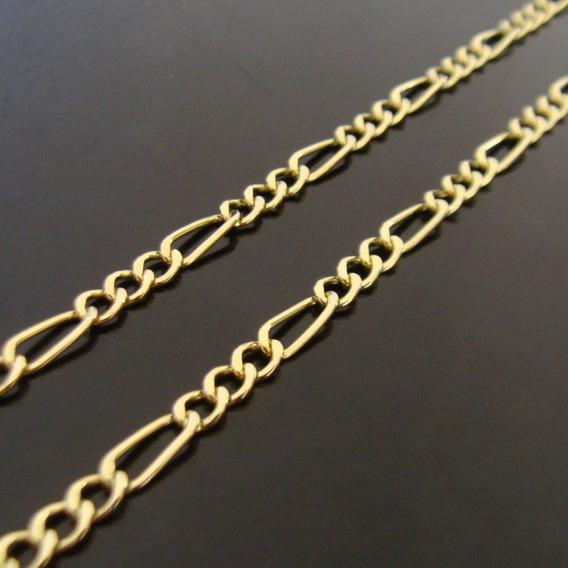 Corrente De Ouro 18k 3 Em 1 Com 60cm - 20 Grs - Frete Grátis