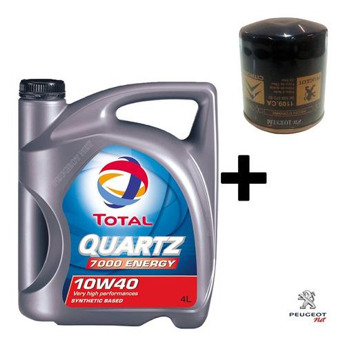 Filtro + Aceite Quartz 7000 X 4 L P/ Peugeot Expert 2.0 Hdi
