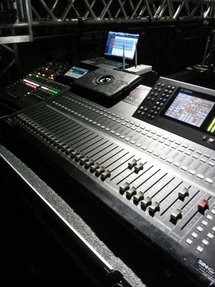 Mesa Digital Yamaha Ls9 +placa De Expansão + Case.