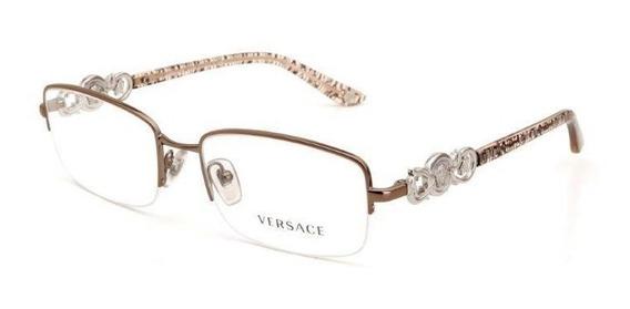 Óculos De Grau Feminino Versace Metal Cromado