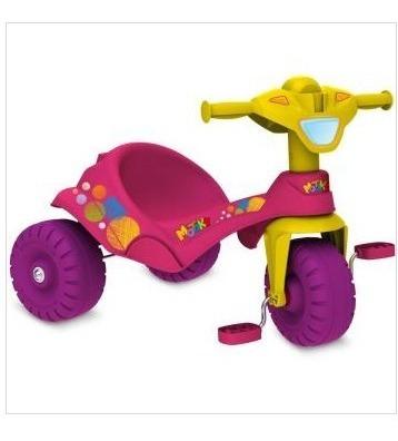 Triciclo Motoka Rosa Brinq. Bandeirante