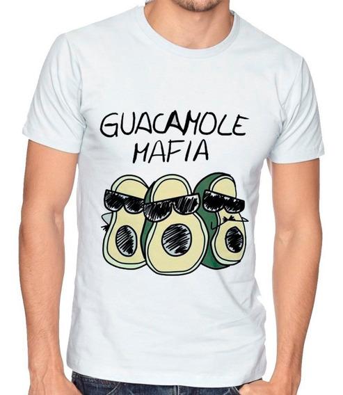 Playera Camiseta Hombre Niño Guacamole Mafia Aguacates 074