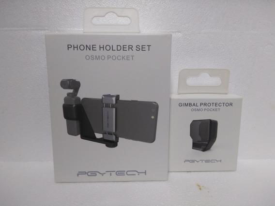 Kit P/ Osmo Pocket - Suporte De Celular + Protetor De Gimbal