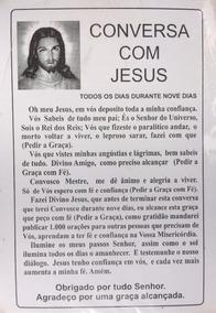 Santinho Conversa Com Jesus - Milheiro