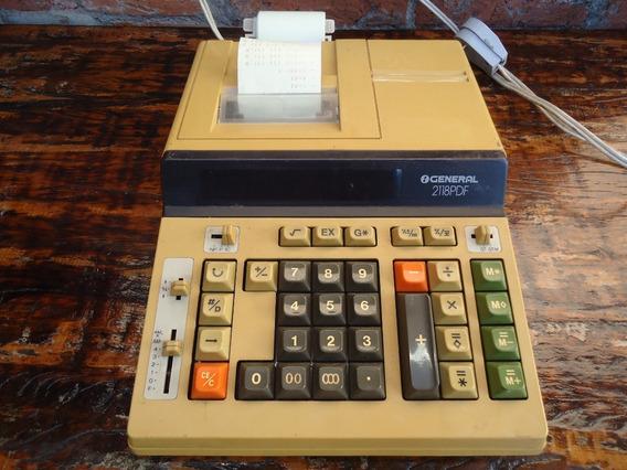 Antiga Calculadora General 2118pdf Bobina Visor Fraco
