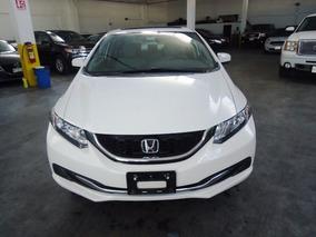 Honda Civic Ex Blanco 2014