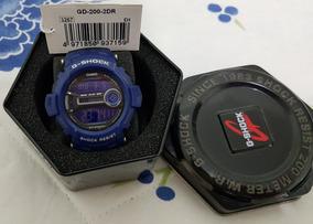 Relógio Casio G-shock Gd-200-2dr Alarmes Timer/crono Wr-200