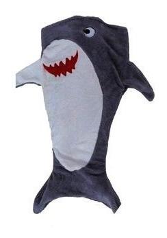 Manta Infantil Saco De Dormir Tubarão