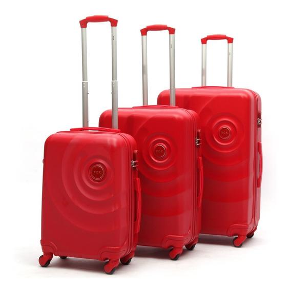 Mala De Viagem Com 3 Peças Em Abs Rodinhas Giratórias