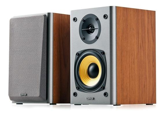 Monitor De Estúdio Edifier R1000t4 Madeira 24w Rms - Par