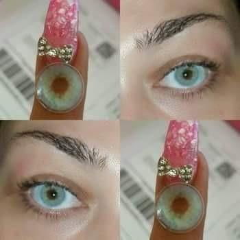 Par De Pupilentes Lime Incluye Solución,estuche C/acces $300