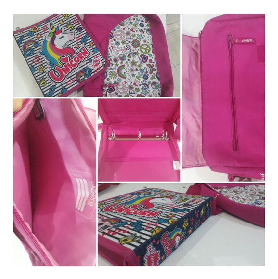 Carpeta Y Morral Unicornio