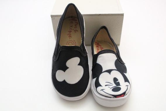 Tenis Personajes Mickey Mouse Para Niños Y Adultos