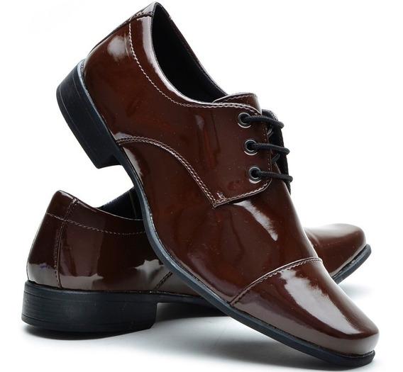 Sapato Social Masculino Elegante Bico Quadrado Empresario