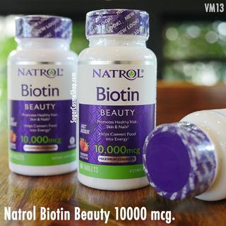 Biotin / Crecimiento Cabello / Barba / Natrol /americano
