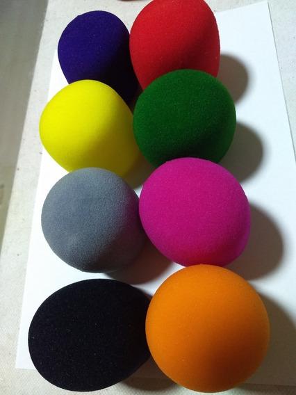 Kit 8 Espumas Para Microfone Coloridas Espuma Proteção