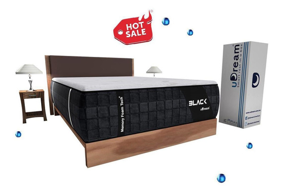 Colchón Memory Foam Queen Size En Caja Black Envío Gratis
