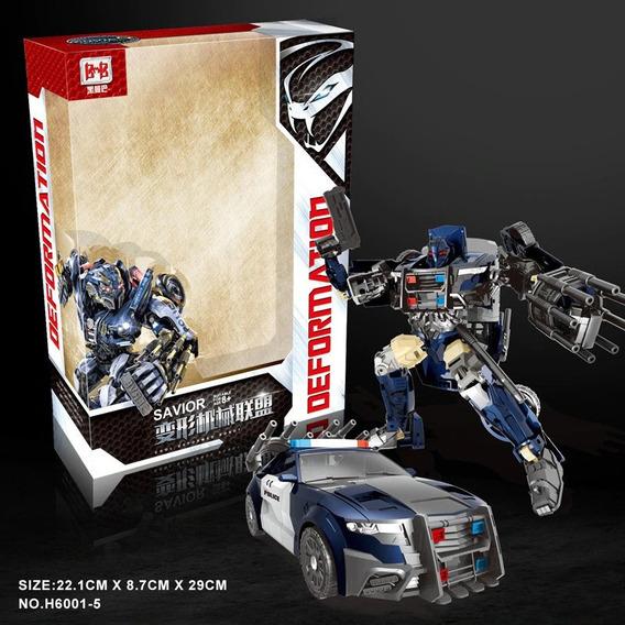 Boneco Transformers Barricade Carro Polícia Robô 19cm Caixa