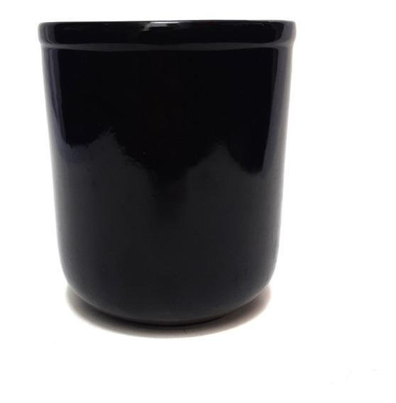 Florero De Ceramica Color Negro 16 Cm - Sheshu Home