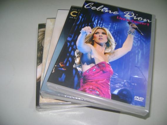 Pacote Dvds Musicais Celine Dion Com 05 Dvds