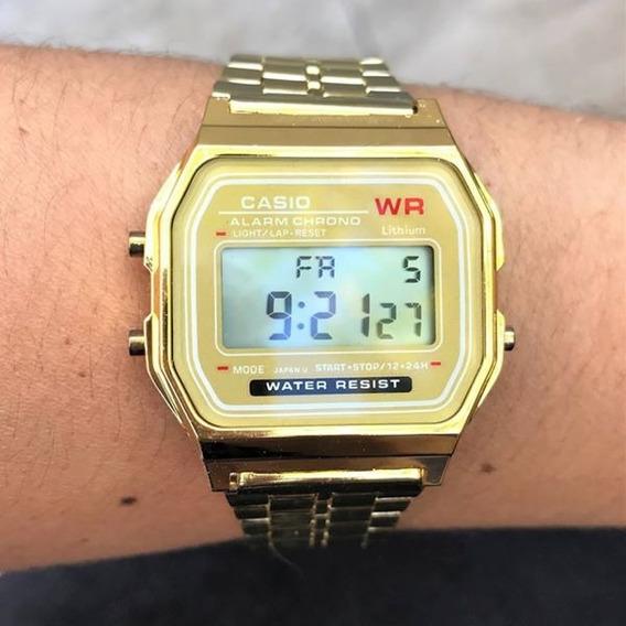 Relógio Casio+caixa Aveludada Retrô Vintage Wr Unissex Lindo