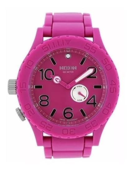 Relógio Nixon 51 30 Rubber Pink Original Nota Fiscal Garanti