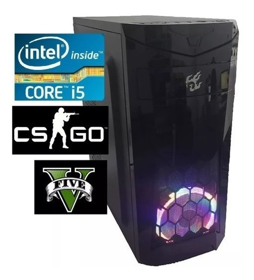 Cpu Pc Gamer Intel Core I5 3.6 Ghz 8gb Ram Ssd 240gb