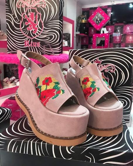 Sandalias Con Flor