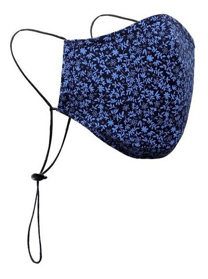 Facebug Cubrebocas Tricapa Ajuste En Nuca Color Azul Chico