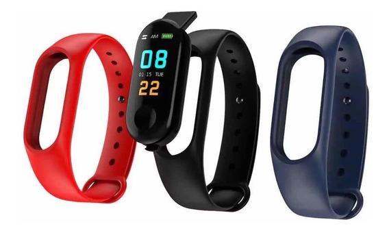 Pulseira Relógio Monitor Cardíaco Esporte M3 Regarregável