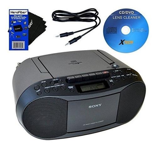 Grabador De Radio Cassette Y Cd Sony Equipado Con Cable Auxi
