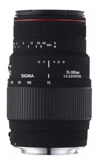 Lente Objetiva Sigma 70-300mm F/4-5.6 Dg Macro Para Nikon