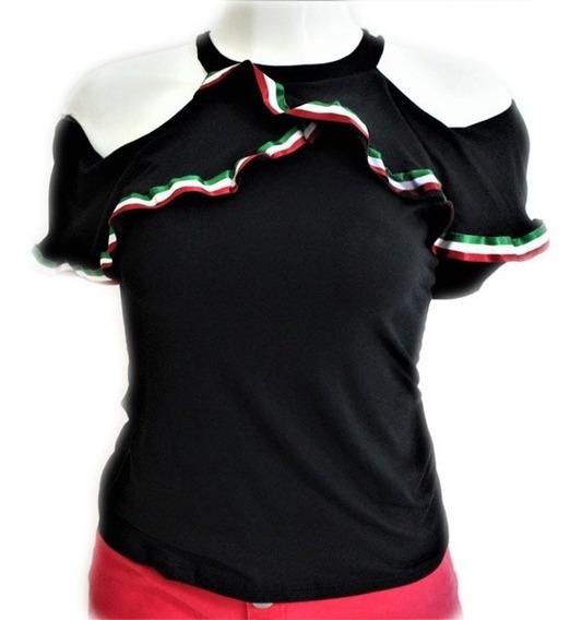 Bonita Blusa Campesina Mexicana Temporada Septiembre