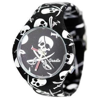 Doodle Watch Dosk002- Black Pirates Skull- Skulls
