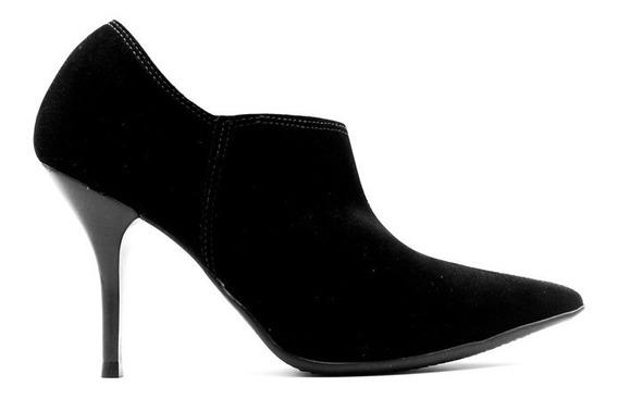 Zapatos Botineta Stiletto Beira Rio Punta Taco Fino Vestir