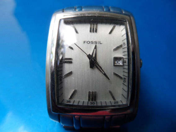Relógio Fossil Calendário Pr 5327 Japan Caixa Metal Cromado