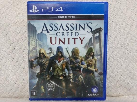 Jogo Ps4 Assassins Creed Unity Mídia Física Original