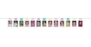 Primer Cumpleaños Minnie Mouse Photo Garland Party Supplies