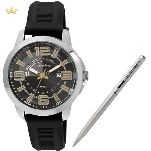 Relógio Condor Masculino Co2115yd/8p + Brinde Caneta Crown