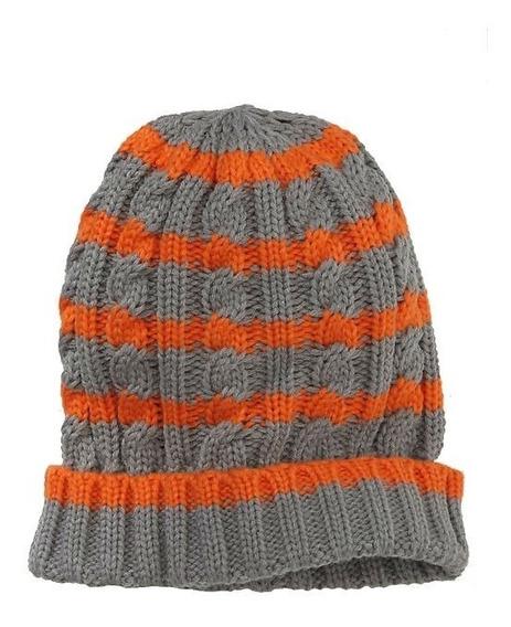 Gap Infantil Juvenil Gorro/boina/chapéu Listrado Em Tricot