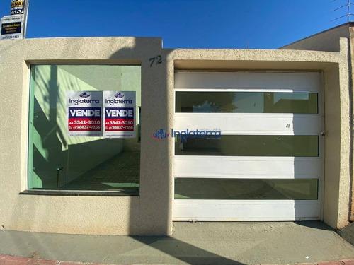 Casa À Venda, 80 M² Por R$ 290.000,00 - Residencial José B Almeida - Londrina/pr - Ca0945
