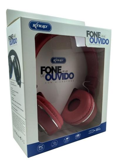Fone De Ouvido Com Microfone Kp-422 Com Microfone