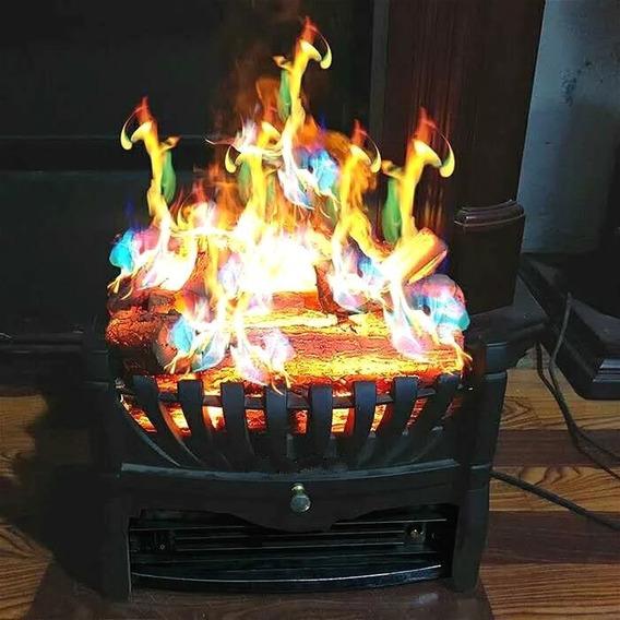 2 Paquetes de Colores de Fuego en Polvo Llama Colorida para Chimenea de fogata Fovely Cambio de Color para Chimenea de fogata 15g + 25g