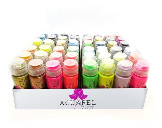Set De Acrílicos Acuarel X48 Colores De 60cc