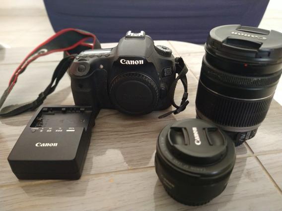 Câmera Canon 60d Profissional + 2 Lentes