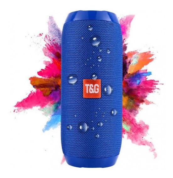 Caixa De Som Bluetooth Entrada Usb / P2 / Sd Potente Tg-117