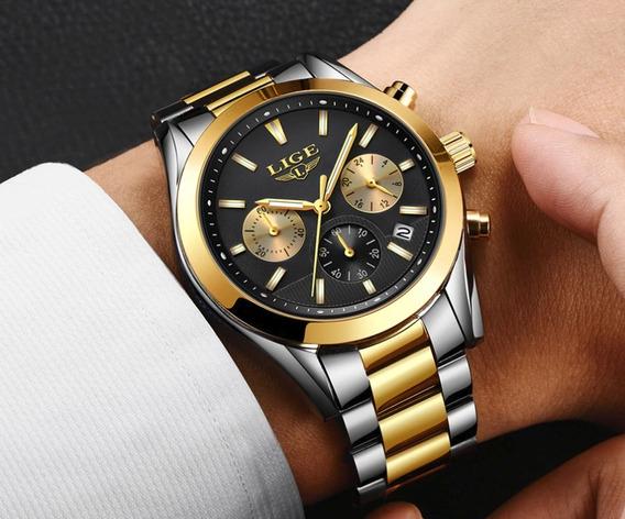 Relógio - Lige 9872 - Multifuncional - 41mm