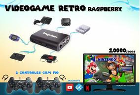 Raspberry Multijogos 10mil Jogos 2 Controles 32gb Netflix