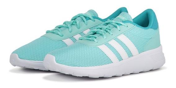 Tenis adidas Lite Racer Color Aqua Para Dama