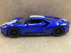 Miniatura Ford Gt 2017 Azul